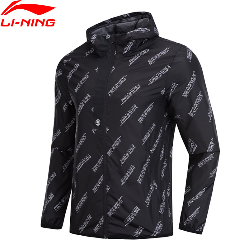 Li Ning Men Basketball Series Coat Windbreaker 3D Fitting 100 Polyester Regular Fit LiNing Sports Trench