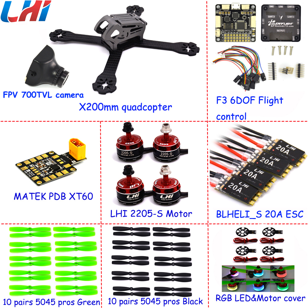 2017 Skywalker Turbo Ix5 Drone Rc Mini Fpv Quadcopter With Hd Frame Kit Racer Drones200mm W/7075 Brushless Motor Lhi Helicopter dys mr2205 2700kv brushless motor for multicopter fpv racer quadcopter