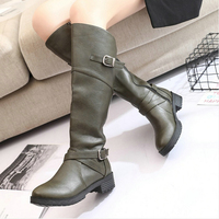 Women S Snow Boot Knee High Pu Leather Boots Women Knee High Boots Female Winter Thigh