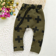 Summer Baby Kids Harm Pants Cross Star Fashion Toddler Boys Trousers Spring Children Boys Sport Pants Cotton Baby Girls Clothes