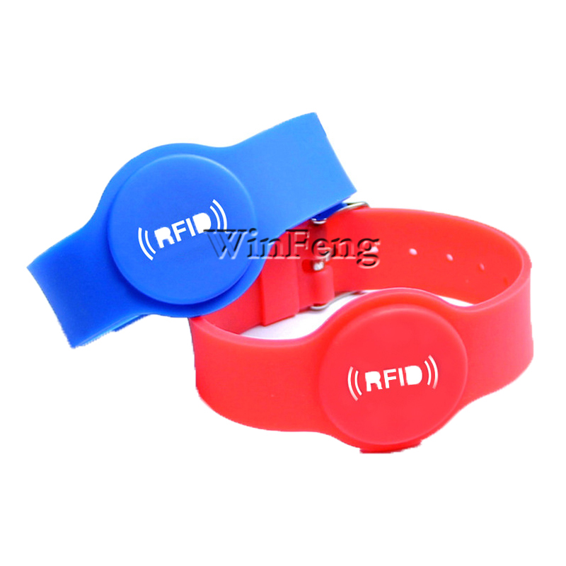 100PCS Adjustable Passive RFID Wrist Band 2018 New Product Waterproof 125KHZ TK4100 Chip Silicone Bracelet  For Access Control
