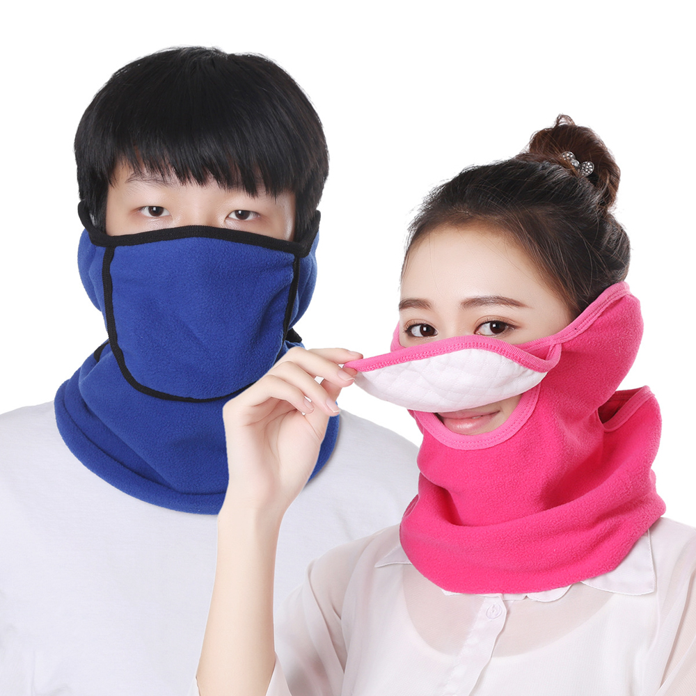 Fashion Winter Face Mask Bicycle Ski Half Face Maske Windproof Dustproof All-Pack Ear Mask For Men Women Multi Use Neck Warmer