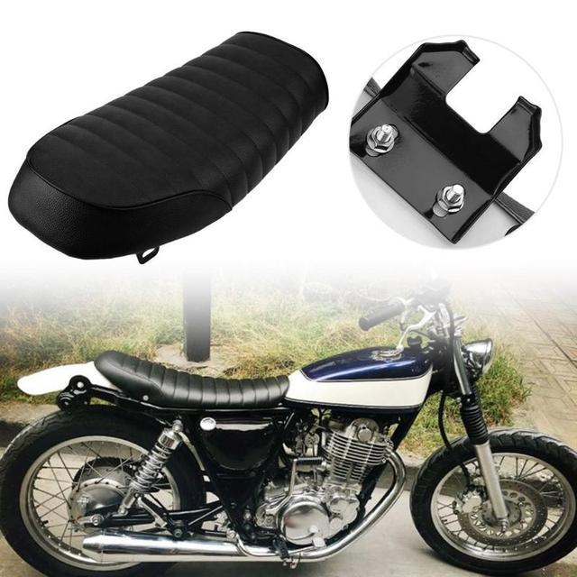 VODOOL 1pc Waterproof Retro Vintage Hump Cafe Racer Seat Saddle For Honda CB Yamaha SR Car
