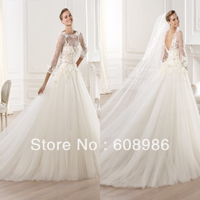 2013 2014 Luxury A line Wedding Dresses For Mature Women SH9014-in ...