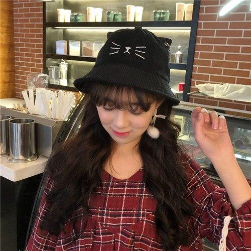 Women Hat Cat Ears Basin...