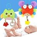 Macaco Feliz Dos Desenhos Animados do bebê Chocalhos Mobiles Plush Brinquedos Educacionais Do Bebê 0-12 Meses Mordedor Bebê Carrinho De Brinquedo Brinquedos Parágrafos Bebe