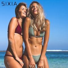 Women Bikini Triangle Push Up Strappy