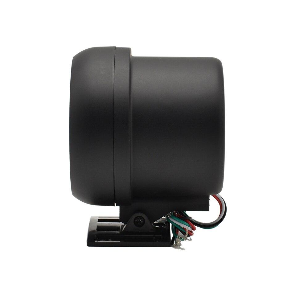 Дракон манометр 3,75 дюймов Высокоскоростной шаговый двигатель Авто белый черный свет Тахометр Датчик для 4.6.8 Цилиндр 0-8000 об/мин