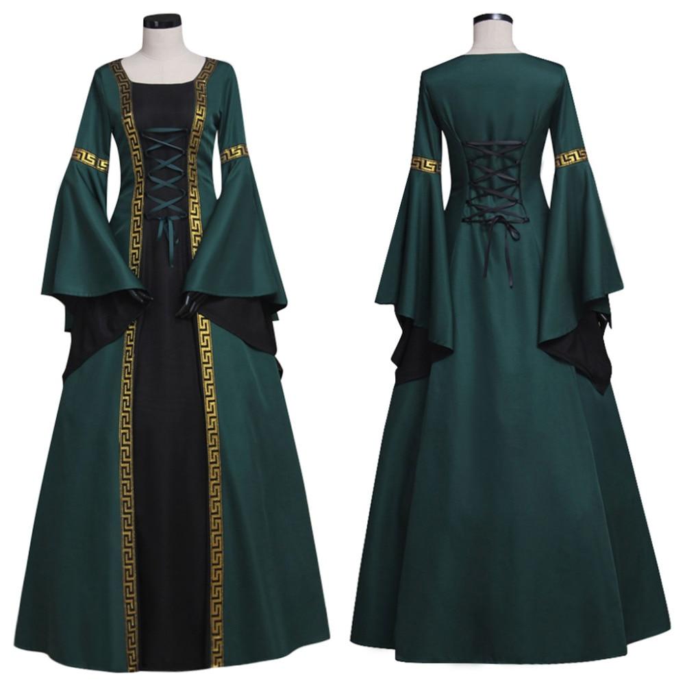 Brand Women's Black Medieval Renaissance Victorian Dresses Costumes