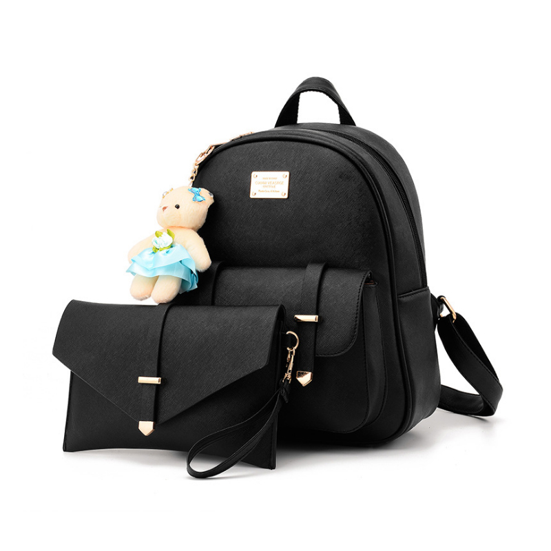 Homeda High Quality Solid PU Leather Fashion Designed Women Backpack Leather School Bag Women Casual Preppy Style Bags Z0028 sweet college wind mini school bag high quality pu leather preppy style fashion girl candy color small casual backpack xa384b