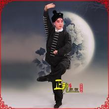 Hot Sale New Chinese Traditional Beijing Opera Dramaturgic man Costume Robe Black Peking Stage costume Champion