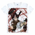 Anime Manga Vampire Knight T-shirt Women Men Cosplay T Shirt Black Mesh Tee