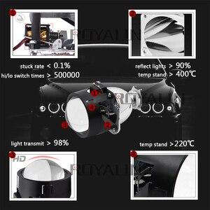 Image 2 - ROYALIN ثنائية زينون HID H1 جهاز عرض صغير عدسة 2.5 مصباح السيارة الأمامي الهالوجين عدسة مرحبا/لو شعاع ل H4 H7 سيارة التصميم لمبة التحديثية DIY بها بنفسك