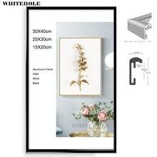 Moldura de metal para fotos, imagem clássica minimalista para desktop, foto 15x20 20x25 30x40cm quadro do cartaz de plissagem