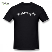 High-Q Coffee Lifeline T-shirt Male New Arrival Custom For Graphic T-Shirt 100% Cotton Tees