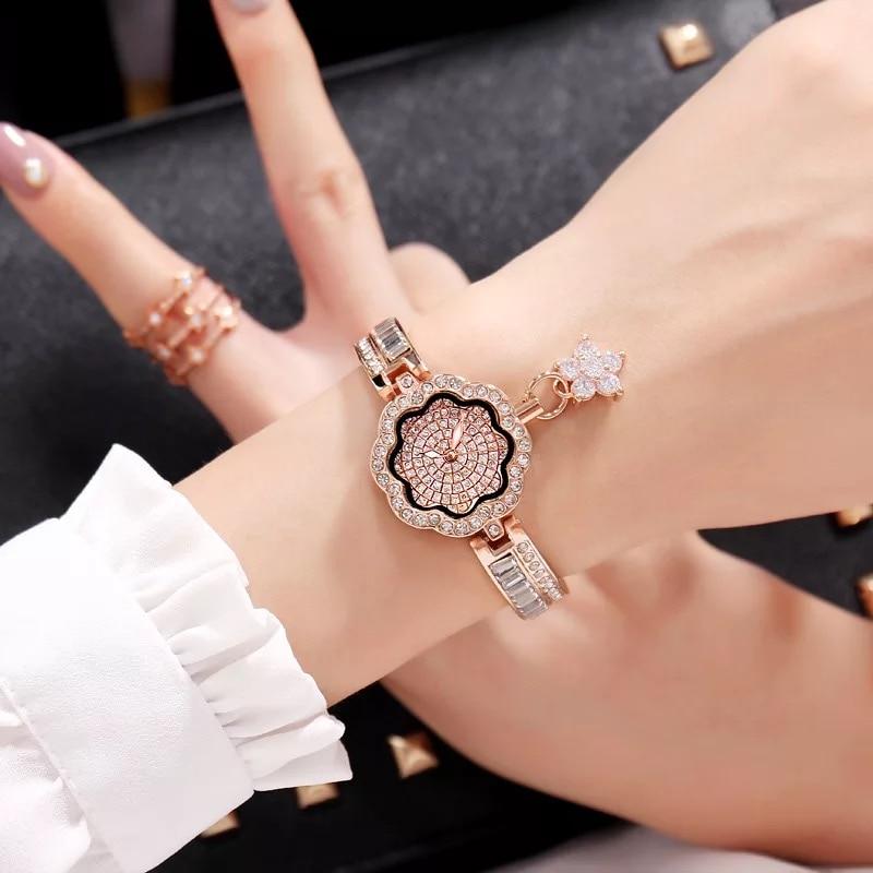 Cacaxi Elegant Jewelry Watch Women Crystal Ladies Luxury Dress Wristwatches Platinum 18K Gold Plated Clock Relogio Feminino Islamabad