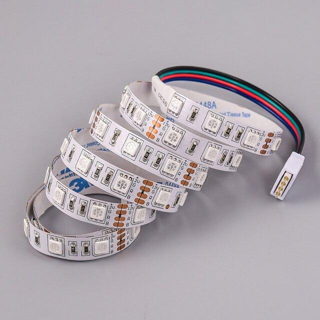 1m Smd 5050 Rgb Led Strip Light 12v 60 Leds Flexible Led