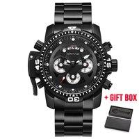 Men Top Brand Watch Unique Chronograph Quartz Watches Business Casual Fashion Sport Wristwatches Man Army Waterproof Gift Clock