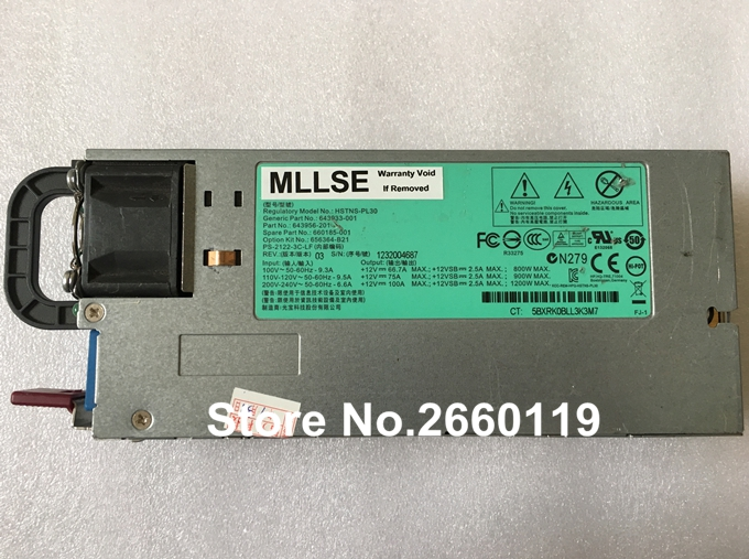 все цены на Power supply for HSTNS-PL30 643933-001 643956-201 660185-001 1200W, fully tested онлайн