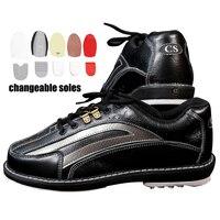 Обувь для боулинга большого размера 35 46, меняющиеся мужские Противоскользящие кроссовки с правой и левой стороны