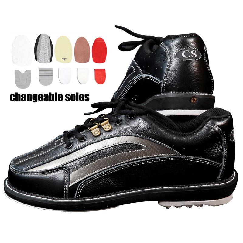 large size 35 46 Bowling Shoes Changable Sole Men With Skidproof Sneakers Right Hand And Left Hand Both Of Them Can Wear It