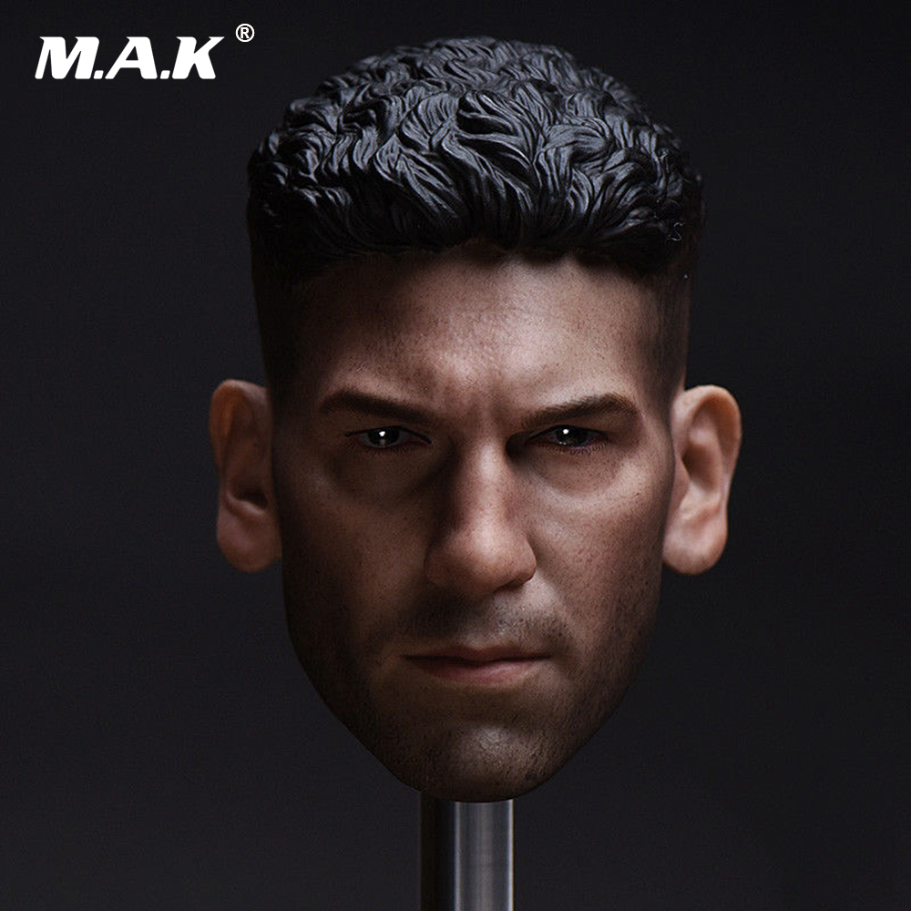 "1:6 Male Head Model Sculpt Collection Jon Bernthal Head Carving Model Collectible 12"" Action Figure Doll Lustrous Surface"