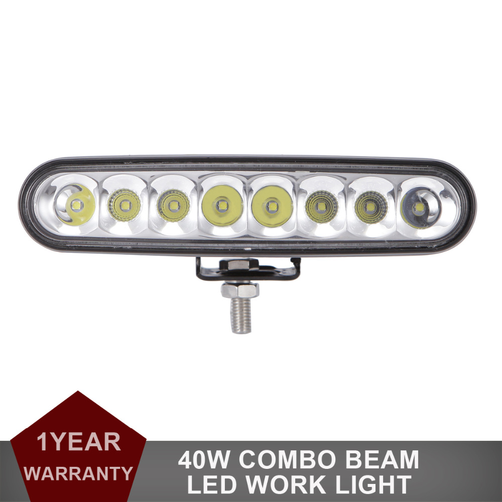 40W LED Work Light Bar Combo 7 Inch DRL Offroad Car ATV 4WD Wagon Pickup Bus 4X4 Motorcycle Boat Camper AWD Driving Headlight