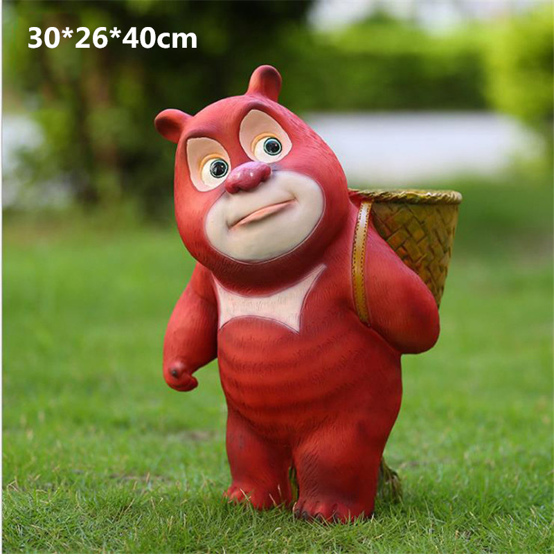 Simulation Bear Animals Boonie Bears Statue Resin Art Craft House Decoration Action Figure Collectible Model Toy L1973 cute simulation bear animals boonie bears crafts continental home villa district decorations collectible model toy l1973