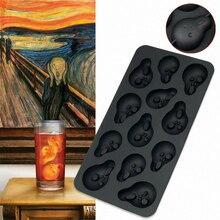 Artistic Ice Cube Maker Shouter Cubes Tray Skull Mold Lattice 3D Skulls Whiskey Stone Beer Coca Wine Cooler