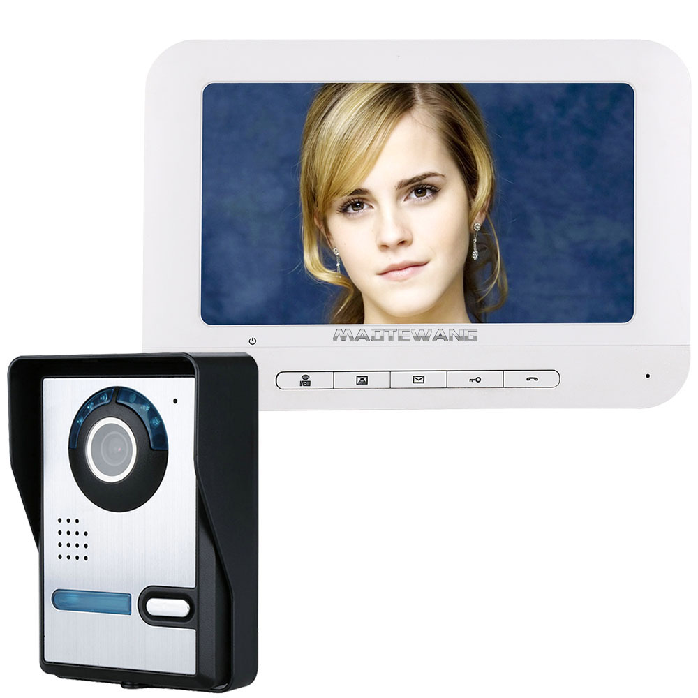 MAOTEWANG 7 Inch TFT Video Door Phone Doorbell Intercom Kit 1-camera 1-monitor Night Vision With IR-CUT HD 700TVL Camera