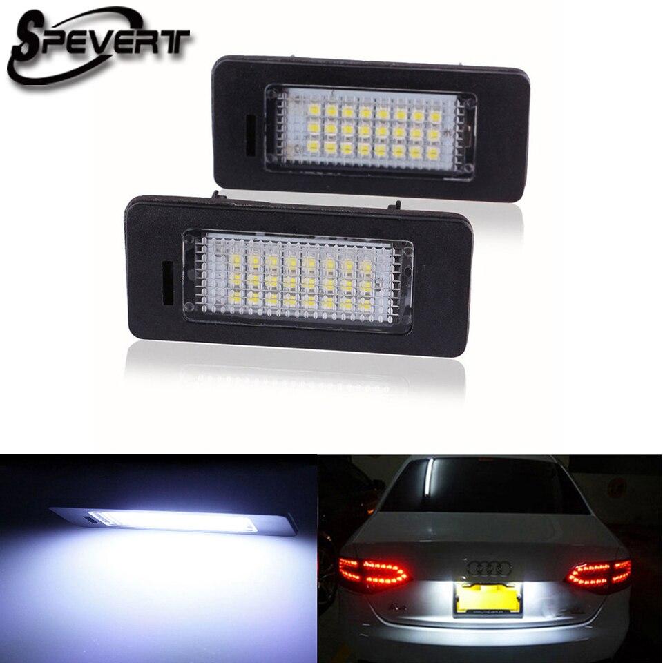 Spevert 2x <font><b>LED</b></font> номерной знак свет лампы <font><b>LED</b></font> доска лампе Fit Audi A4 S4 <font><b>B8</b></font> A5 S5 TT Q5 VW Passat <font><b>5D</b></font>