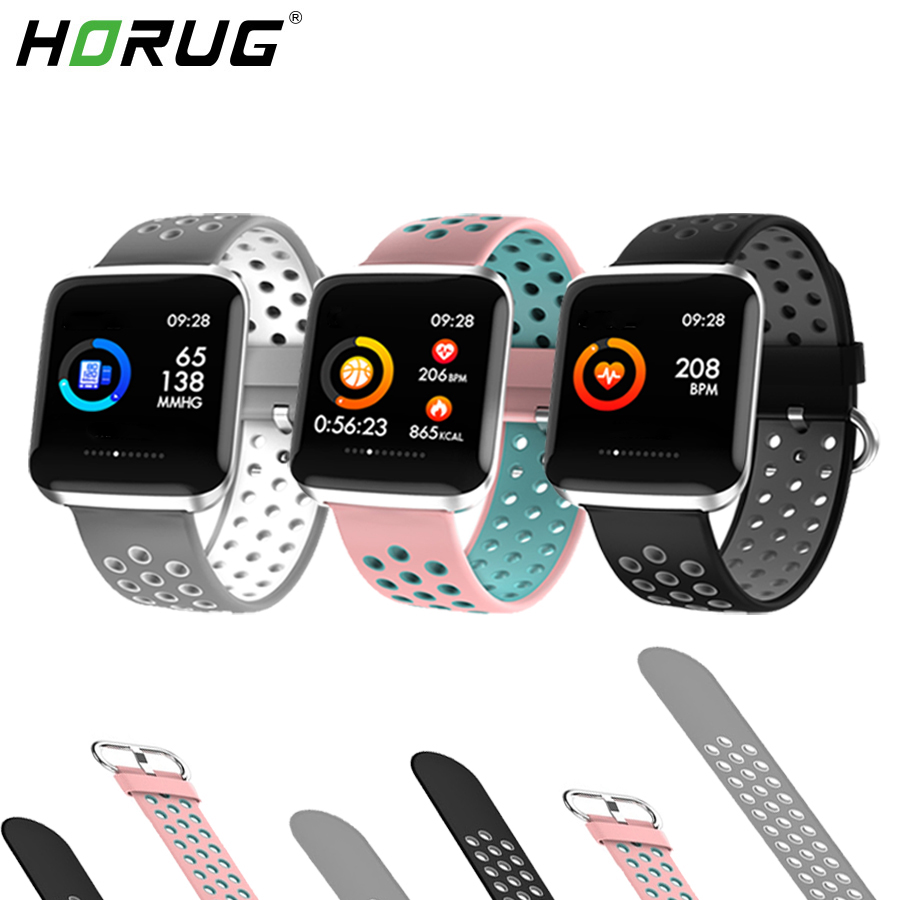 HORUG Smart Band Fitness Bracelet Activity Tracker Bluetooth Wristband Waterproof  Watch Electronic Health Monitor