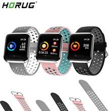 HORUG pulsera de Fitness de banda inteligente rastreador de actividad inteligente Bluetooth pulsera inteligente impermeable reloj electrónico Monitor de salud