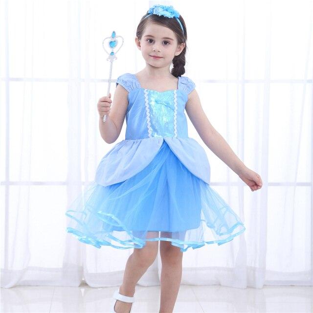 Halloween Kleider Fur Kinder.Blau Cinderella Kleid Madchen Tutu Kleinkind Prinzessin Kinder Halloween Cosplay Kostum Kinder Schonheit Kleidung