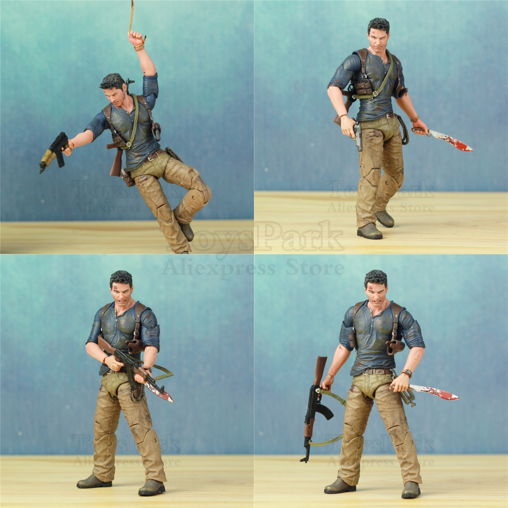 "Image 5 - Uncharted 4 A Thief's End Ultimate Nathan Drake 7"" Action Figure Doll Toys KO's NECA Video Game Sony PS4 Naughty Dog Collectible-in Action & Toy Figures from Toys & Hobbies"