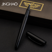 High end Matte Black 0.5mm Rollerball Pen Metal Hero Business Office Signature Neutral Pens with a Luxury Gift Box stationery