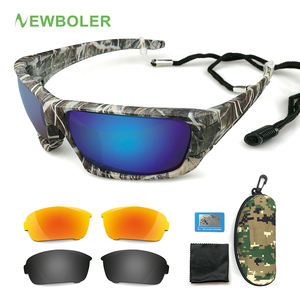 NEWBOLER المستقطبة الصيد النظارات الشمسية التمويه الإطار الرياضة نظارات شمسية الصيد نظارات Oculos دي سول Masculino uv 400