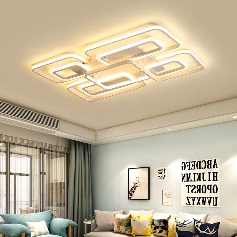 Modern LED Ceiling Light for Living Room Bedroom Restaurant Square Metal Study Room Light LED Ceiling Light and Remote Control youoklight remote control led ceiling light