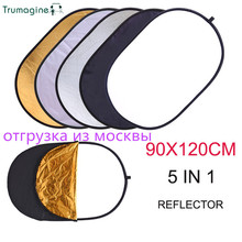 90*120CM 5 in 1 Photo Neewer Reflector Oval Portable Foldable Black Studio Outdoor Small Light Reflector Camera Photography Refl