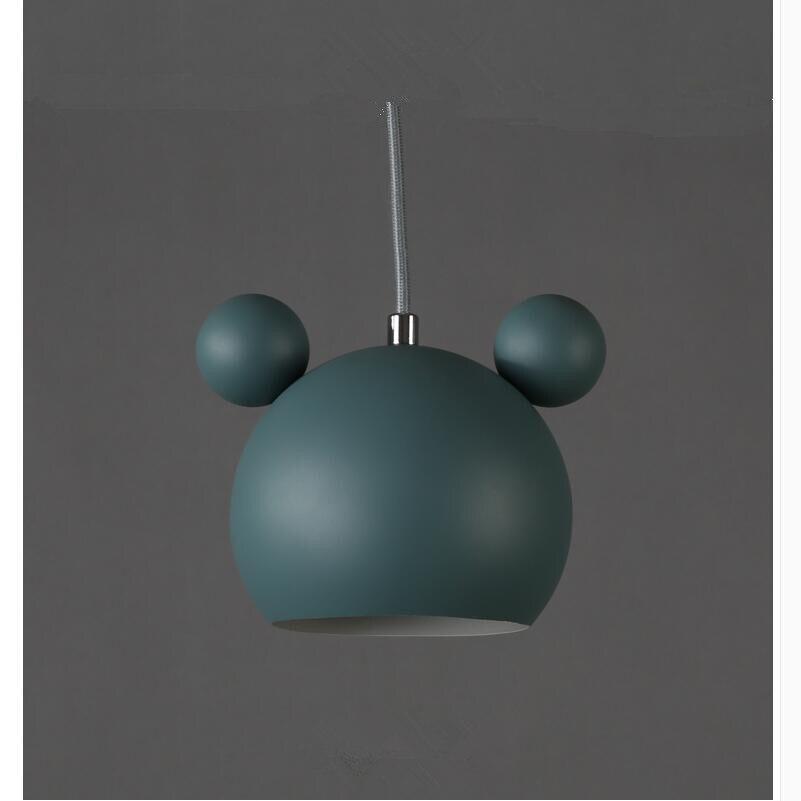 Art moderne belle Mickey Mouse fer pendentif lumières cadeau mignon métal pendentif lampes nordique pas cher fer suspendus lumières Lumianire lampe - 4