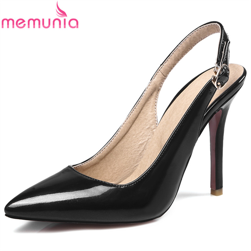 MEMUNIA 2017 new arrive women pumps fashion Slingback pointed toe thin heels ladies office shoes ladies super high prom shoes
