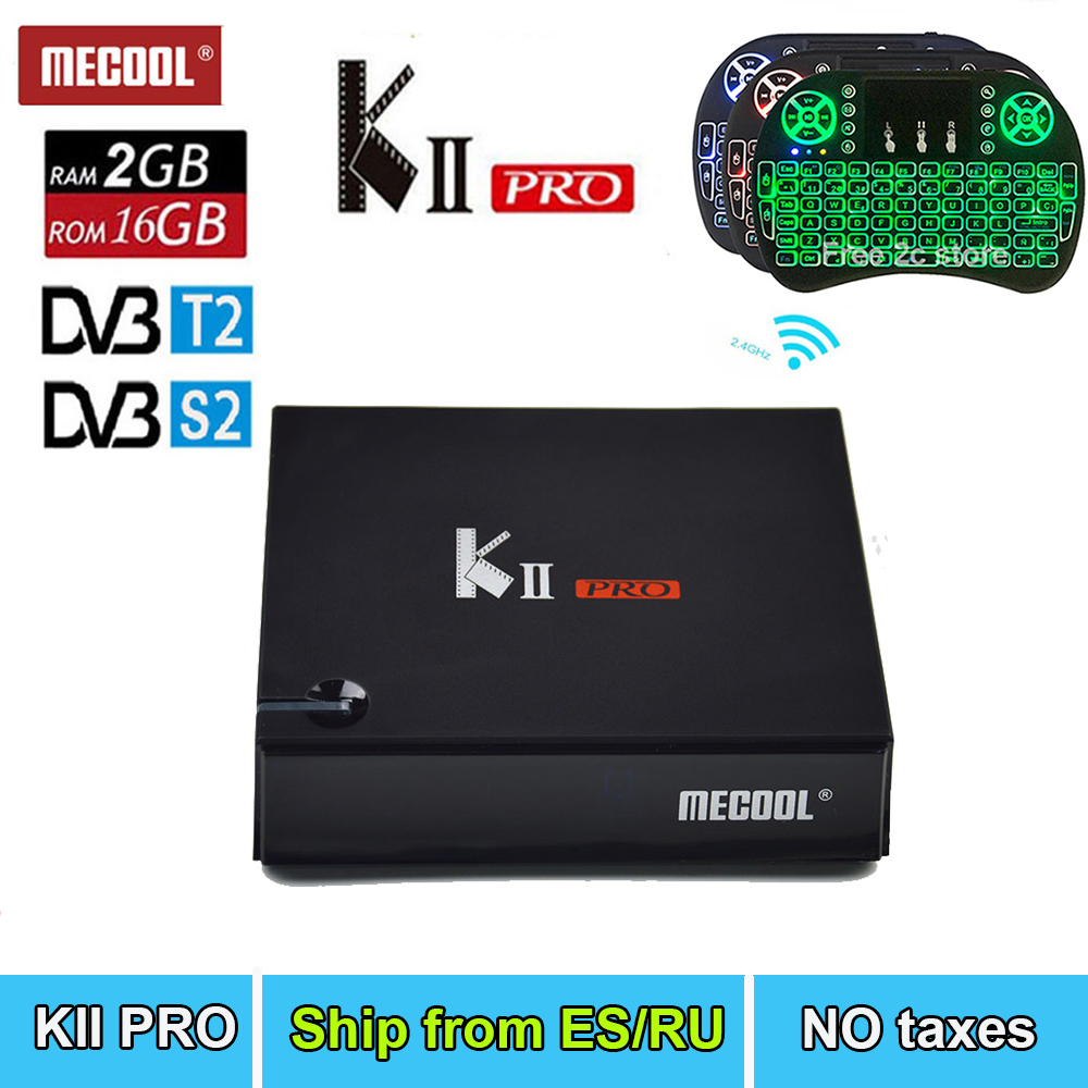 KII PRO DVB-S2 DVB-T2 S905 Android 7.1 TV Box 2GB 16GB K2 pro DVB T2 S2 Media player Dual Wifi BT4.0 French 2500+ IPTV optional kii pro android tv box amlogic s905 media player 2g 16g dual wifi iptv dvb s2 t2 k2 pro satellite receiver ship from russian