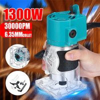 """110V/220V 1300W 1/4"""" 30000RPM Electric Hand Trimmer Wood Laminate Palms Router Joiners Power Tool Woodwork Carving Machine Trim Electric Trimmers     -"""
