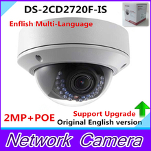 English Version 2MP Dome Camera DS-2CD2720F-IS 2.8-12mm Vari-focal Lens Camera IR-Cut Array IP Camera