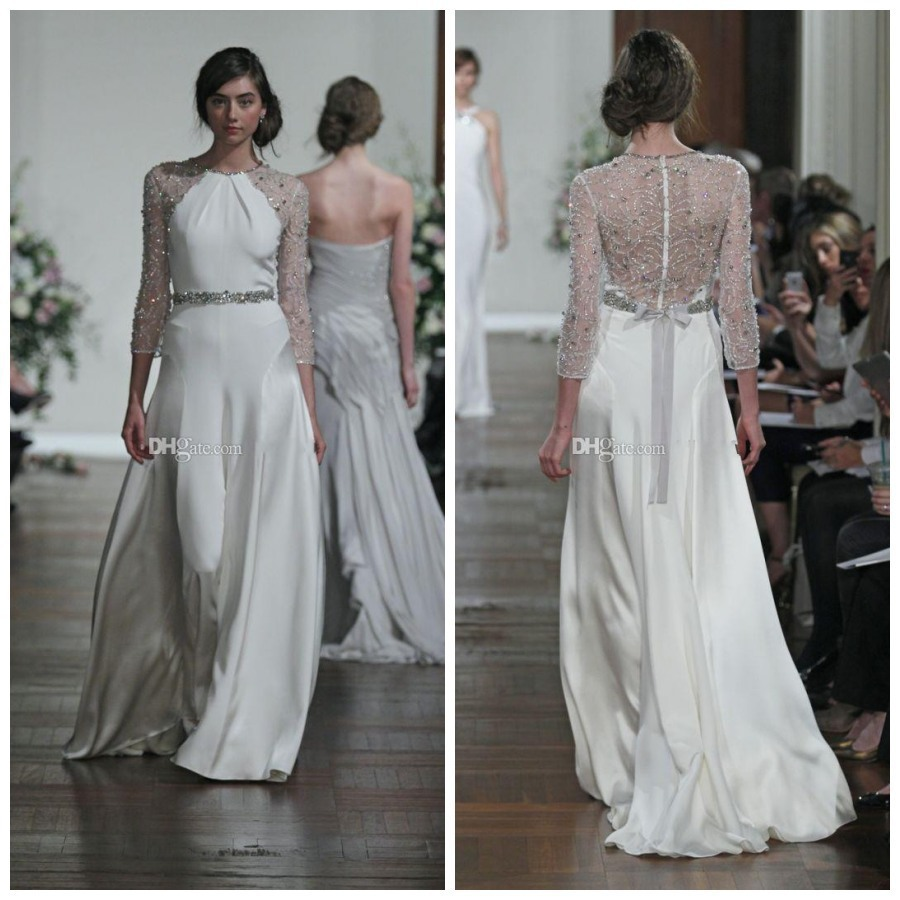 2014 new bridal stunners from jenny packham wedding dresses 2015 2014 new bridal stunners from jenny packham wedding dresses 2015 new hot floor length chiffon zipper back bride gowns ab102 in wedding dresses from weddings junglespirit Image collections