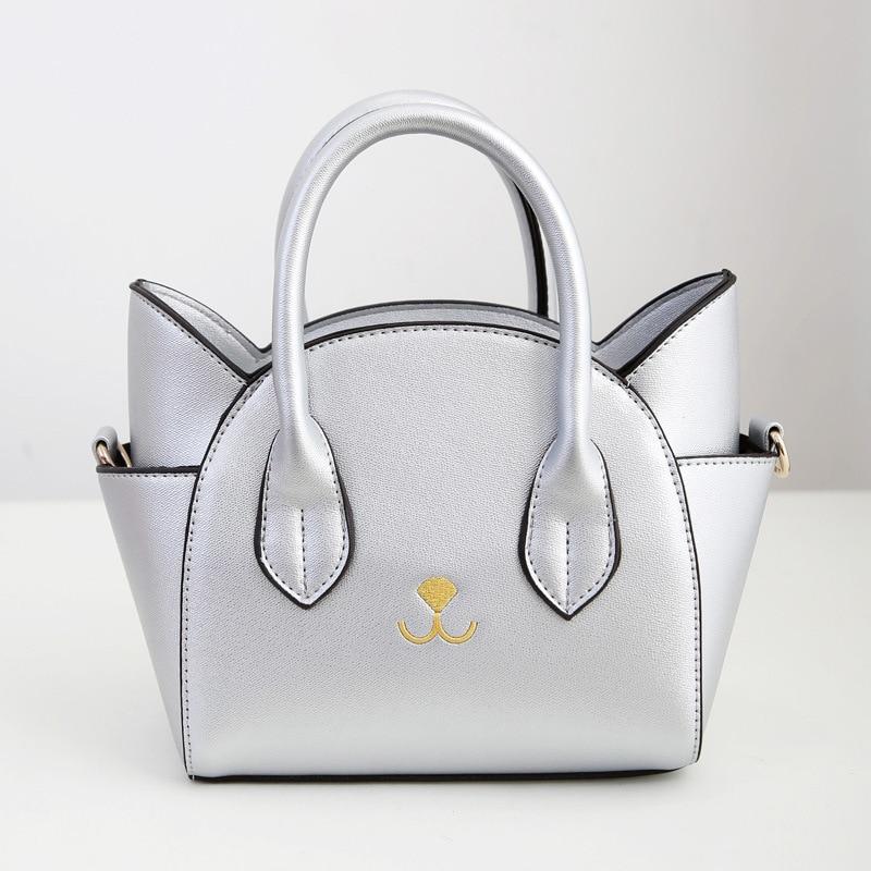 ФОТО Women PU Leather handbags Europe and American style fashion trend of new ladies cat handbag shoulder diagonal female package