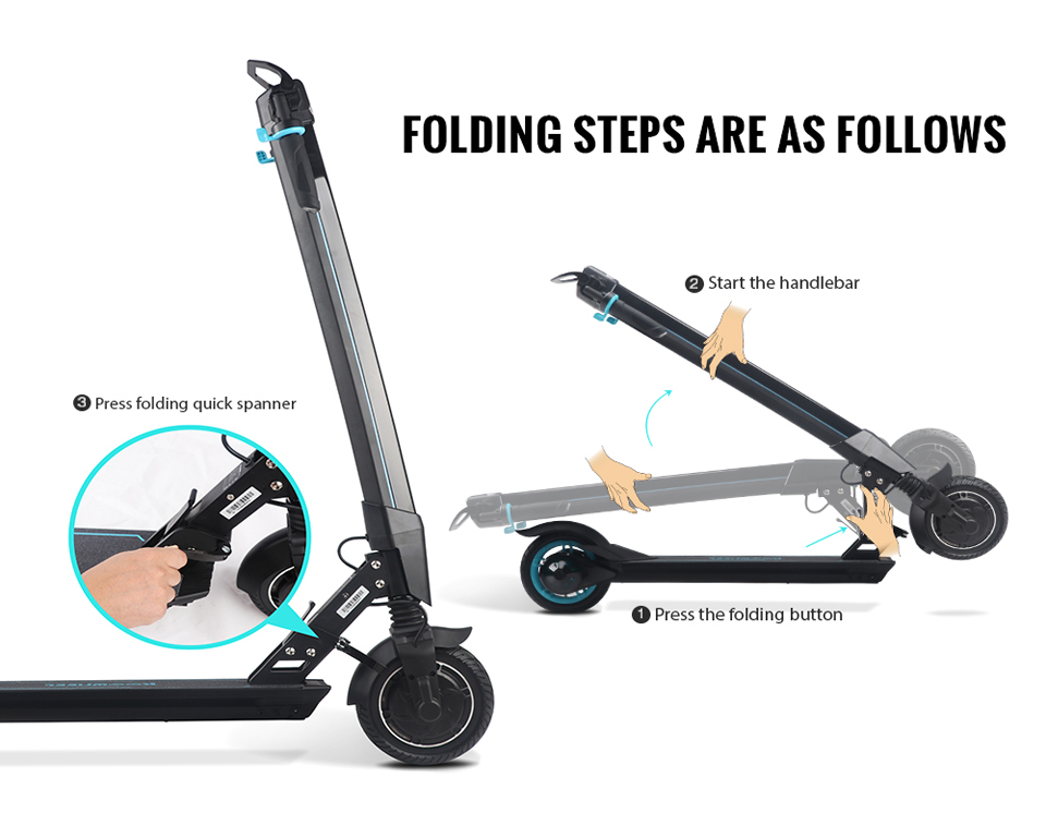 Original Koowheel L8 Adult Foldable Scooter Portable Hoverbaord Electric Scooter Foldable LCD Display 2 Wheel Free shipping (25)