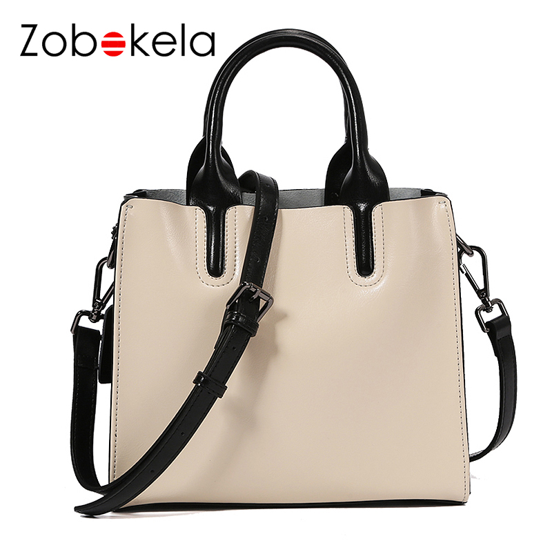 ZOBOKELA Women Bag Designer Handbag Genuine Leather bag female Women Messenger Bag Ladies Shoulder crossbody famous brand zobokela genuine leather women bag handbags designer women messenger bags leather shoulder bag handbag ladies bag women