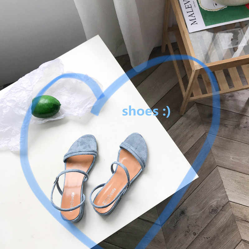 Hausschuhe Frauen Sandalen Sommer Blau Schuhe Wohnungen Ferse Flip Gladiator Kurze Flip flop Sandalen Frauen Schuhe Frau Zurück Strap mujer