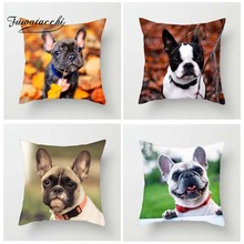 Fuwatacchi Cute Animal Style Cushion Cover For Sofa French Bulldog Printed Pillow Cover Decorative Pillows Pillowcase Home Decor цены